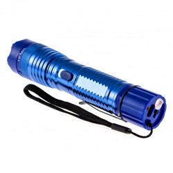 CHEETAH 10 MIL VOLTS FLASHLIGHT STUN GUN BLUE