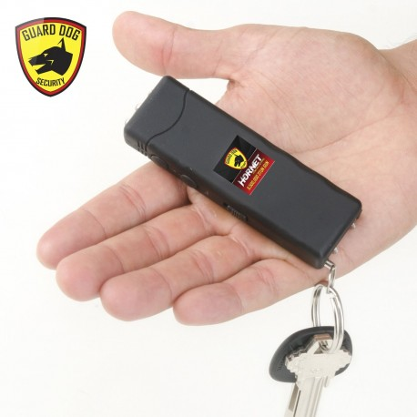 Hornet Keychain Stun Gun 6,000,000 with LED Flashlight Black