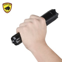 Guard Dog Security Katana 400 Lumen Tactical Flashlight with High Voltage Concealed Stun Gun and Tail Cap Striker (Black)