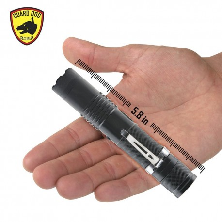 Guard Dog Security ElectroLite 140 Lumen Tactical Flashlight with High Voltage Concealed Stun Gun and Belt Clip
