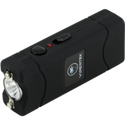 VIPERTEK - 28,000,000 V Micro Stun Gun - Rechargeable with LED Flashlight (Black)