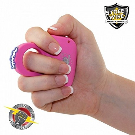 Streetwise Sting Ring 18 Million Volt Stun Gun Perfect Discrete Defense Rechargeable Pink